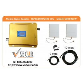 Dual Band 900/2100 2G/3G LCD Cell/Mobile Signal Booster Complete DIY Kit!!
