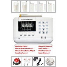 Wireless GSM/PSTN Home Security Alarm System (99 Zones) Anti-Theft